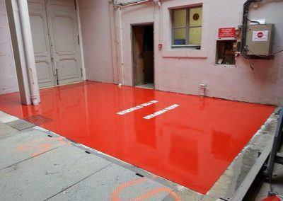 Revetement Epoxy Autolissant Theatre zone pompier 1 2
