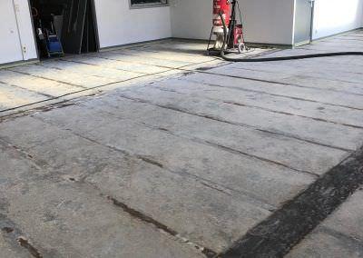preparation sol beton usine