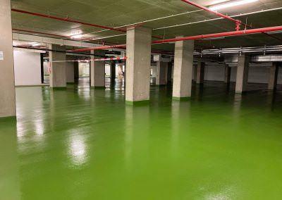 revetement antiderapant parking vert 1